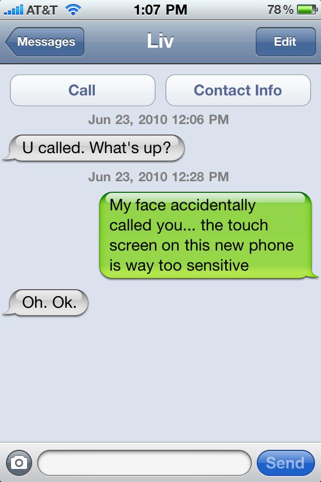 Text message screen maxwellsz